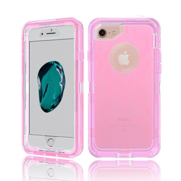 For Samsung Galaxy Note 8 Clear Defender Mobile Case - Pink