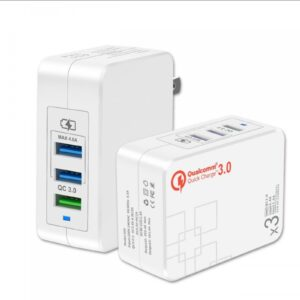 QC 3.0 Quick Charger 3 ports usb charger CE FCC ROHS certified usb wall charge