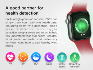 Wrist Smartwatch For Samsung iPhone Huawei Xiaomi 38mm - more than just a watch features health