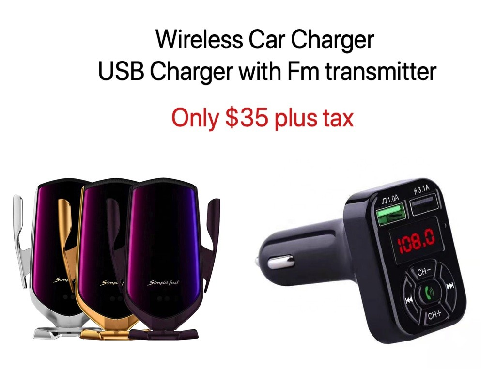Qi Wireless Charger WIRELESS CHARGER WITH FM TRANSMITTER BUNDLE OFFER