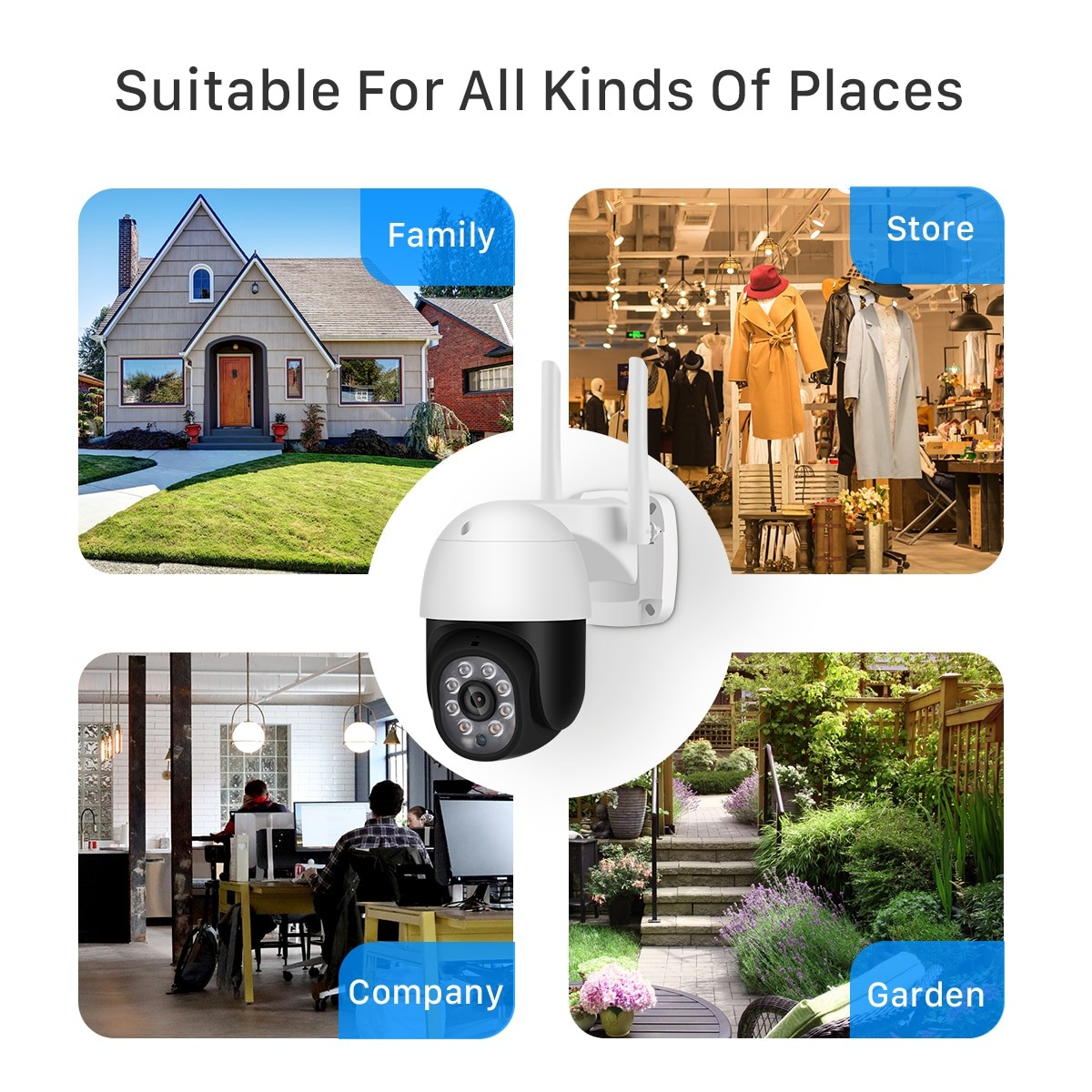 suitable for all kinds of places 5mp Al-Outdoor Security-camera