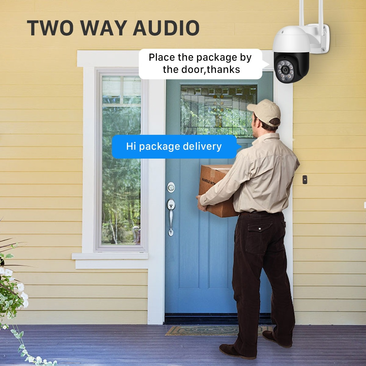 two way communication 5mp Al-Outdoor Security-camera